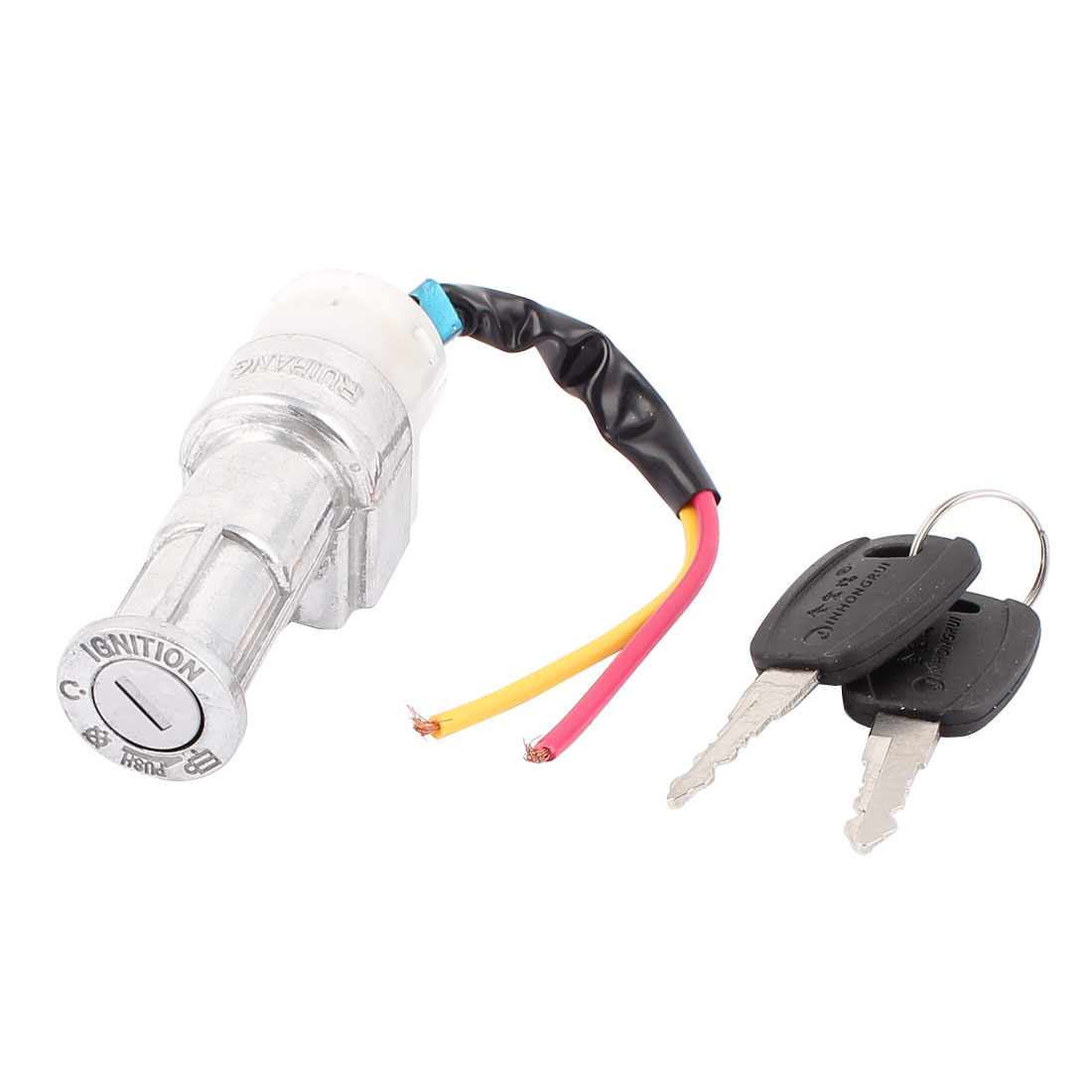 4.5mm Female Thread Key Switch 2 Wire Lead Motorcycle Electric Bike Lock Lockset