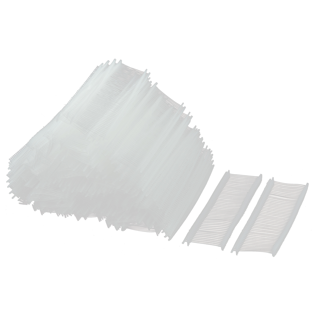 Plastic Snap Lock Security Loop Tag Fastener White 25mm Inner Dia 5000 Pcs