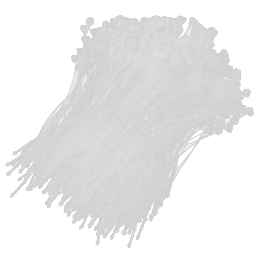 Plastic Snap Lock Security Loop Tag Fastener White 8.5cm Long 5000 Pcs
