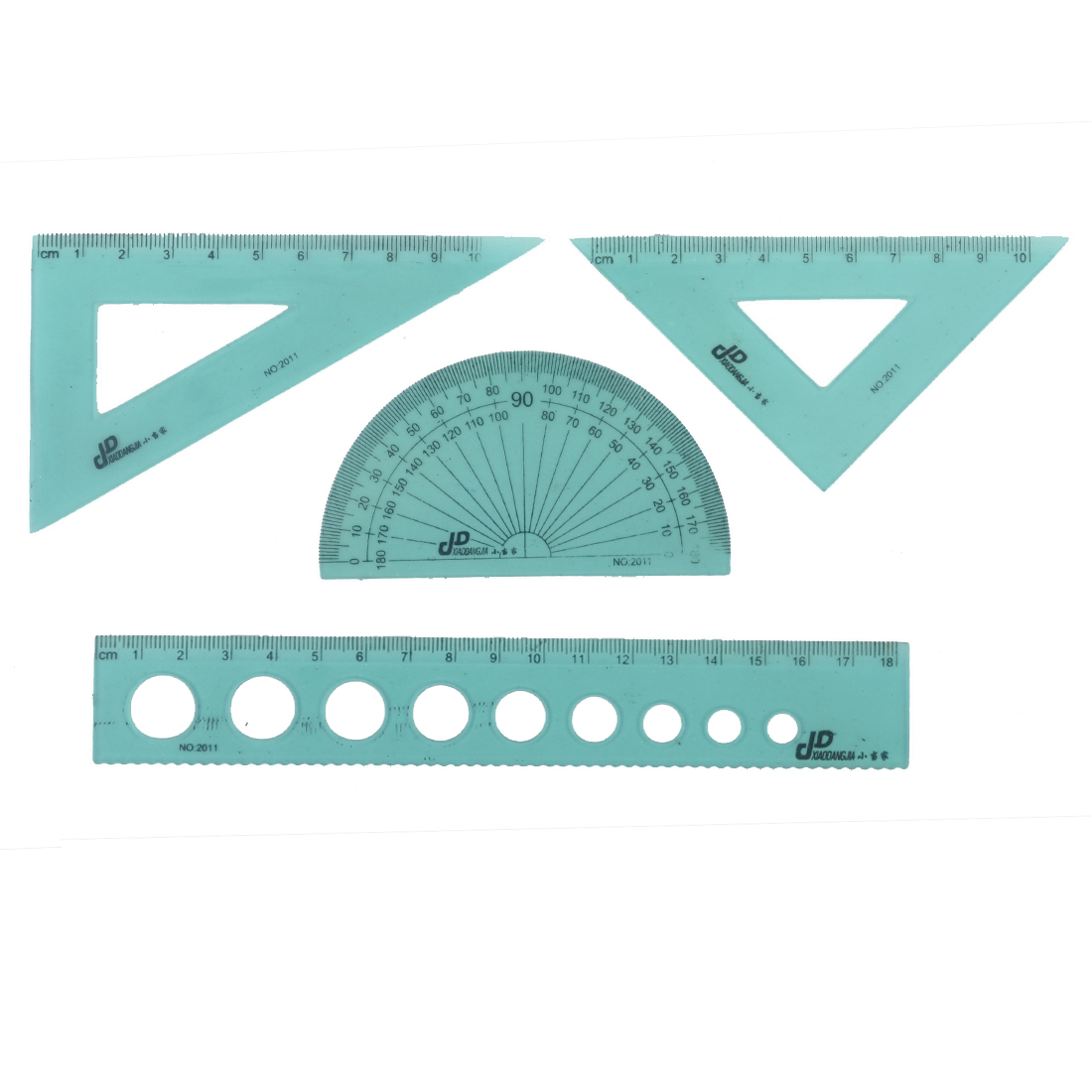 Students Plastic Protractor Geometry Straight Triangle Ruler Combination Set