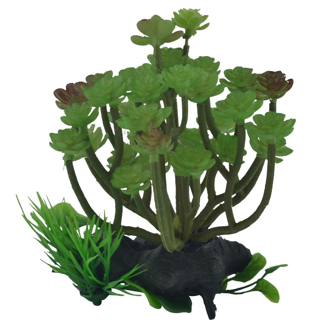 Aquarium Fish Tank Plastic Artificial Emulation Water Plant Grass Decor Ornament Green
