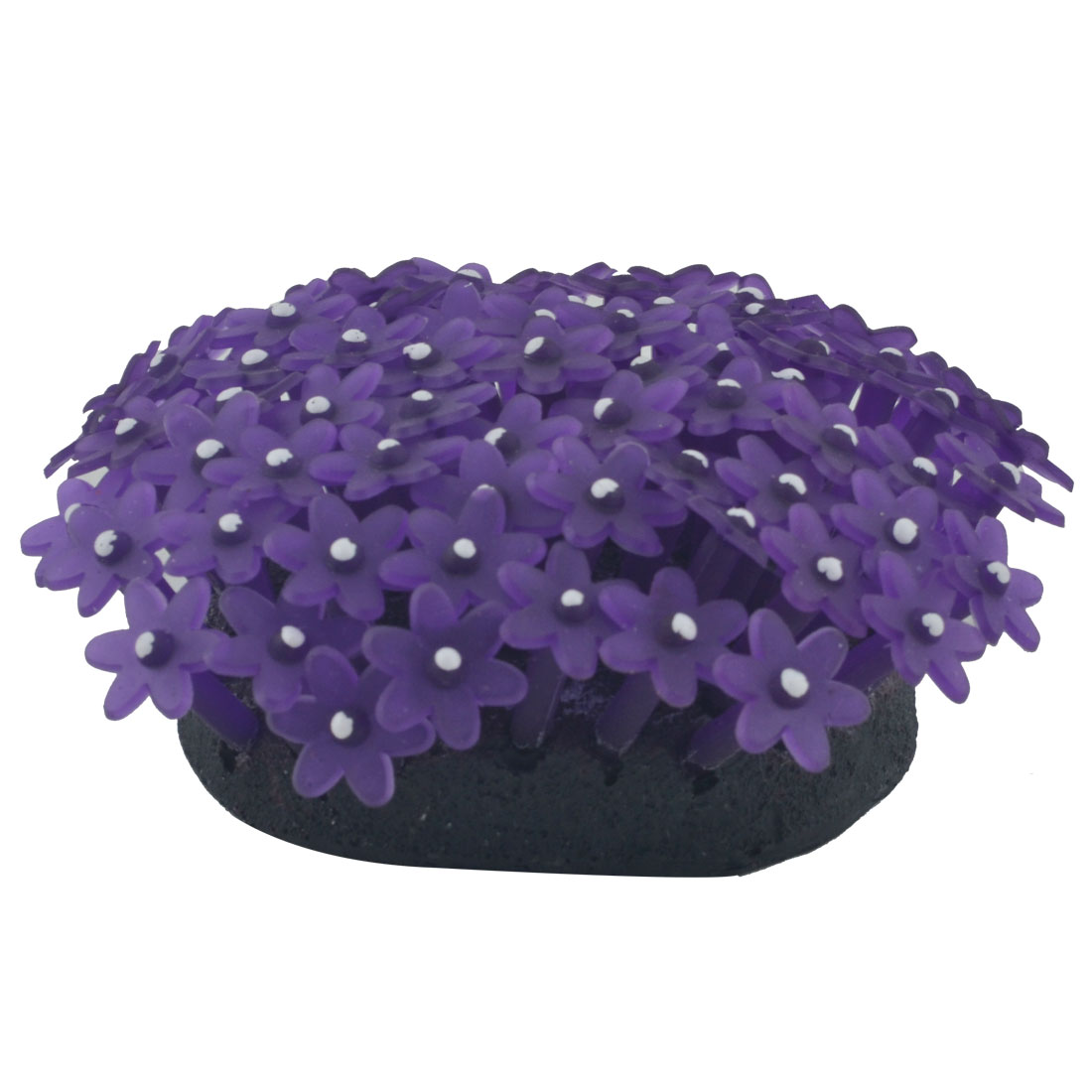 Fish Tank Aquarium Fishbowl Silicone Emulational Coral Grass Plant Decor Ornament Purple