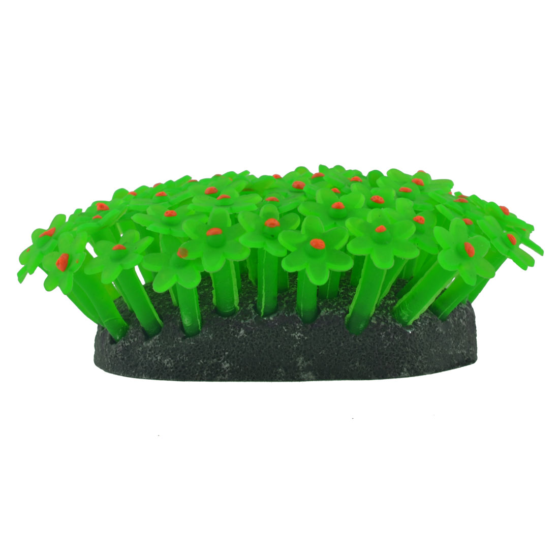 Fish Tank Aquarium Fishbowl Silicone Emulational Coral Grass Plant Decor Ornament Green
