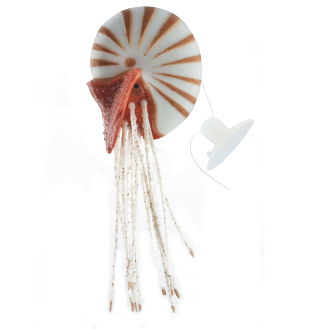 Aquarium Plastic Manmade Artificial Floating Conch Design Decoration Ornament Brown