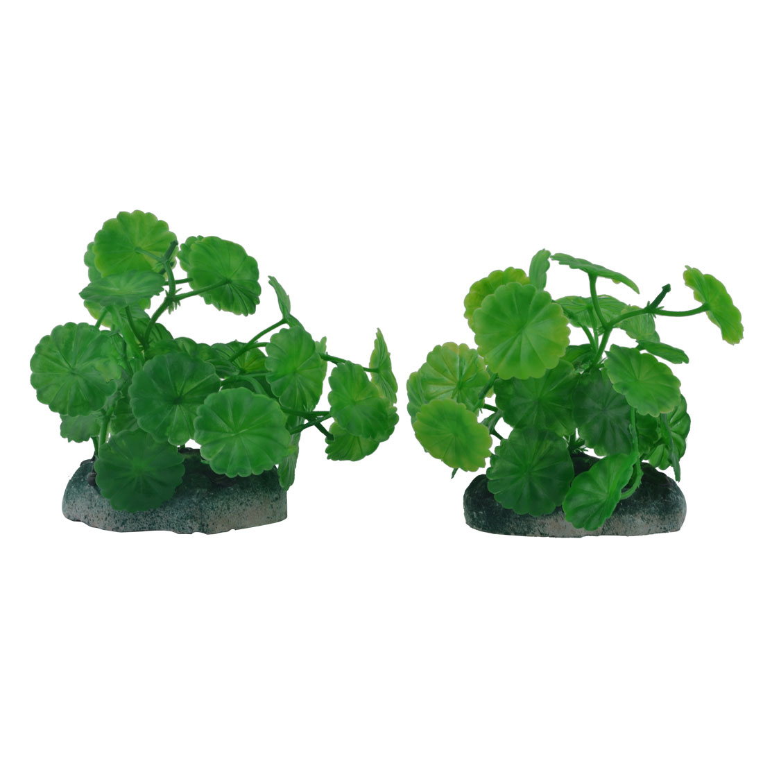 Aquarium Fish Bowl Plastic Manmade Simulation Water Plant Grass Decor Ornament Green 2pcs