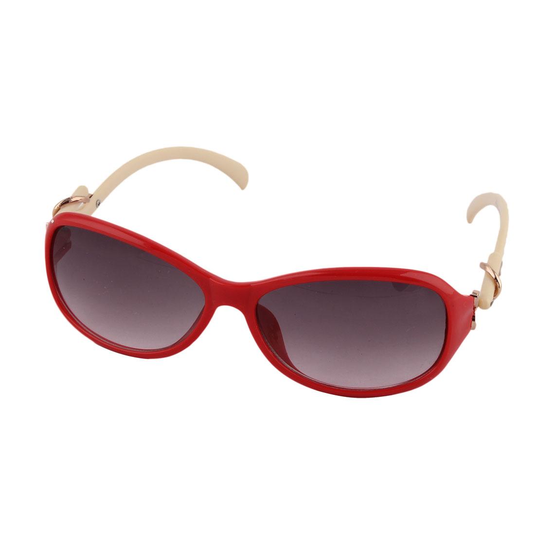 Plastic Full Flame Rim Sun Shield UV Protection Lens Sunglass Red for Women