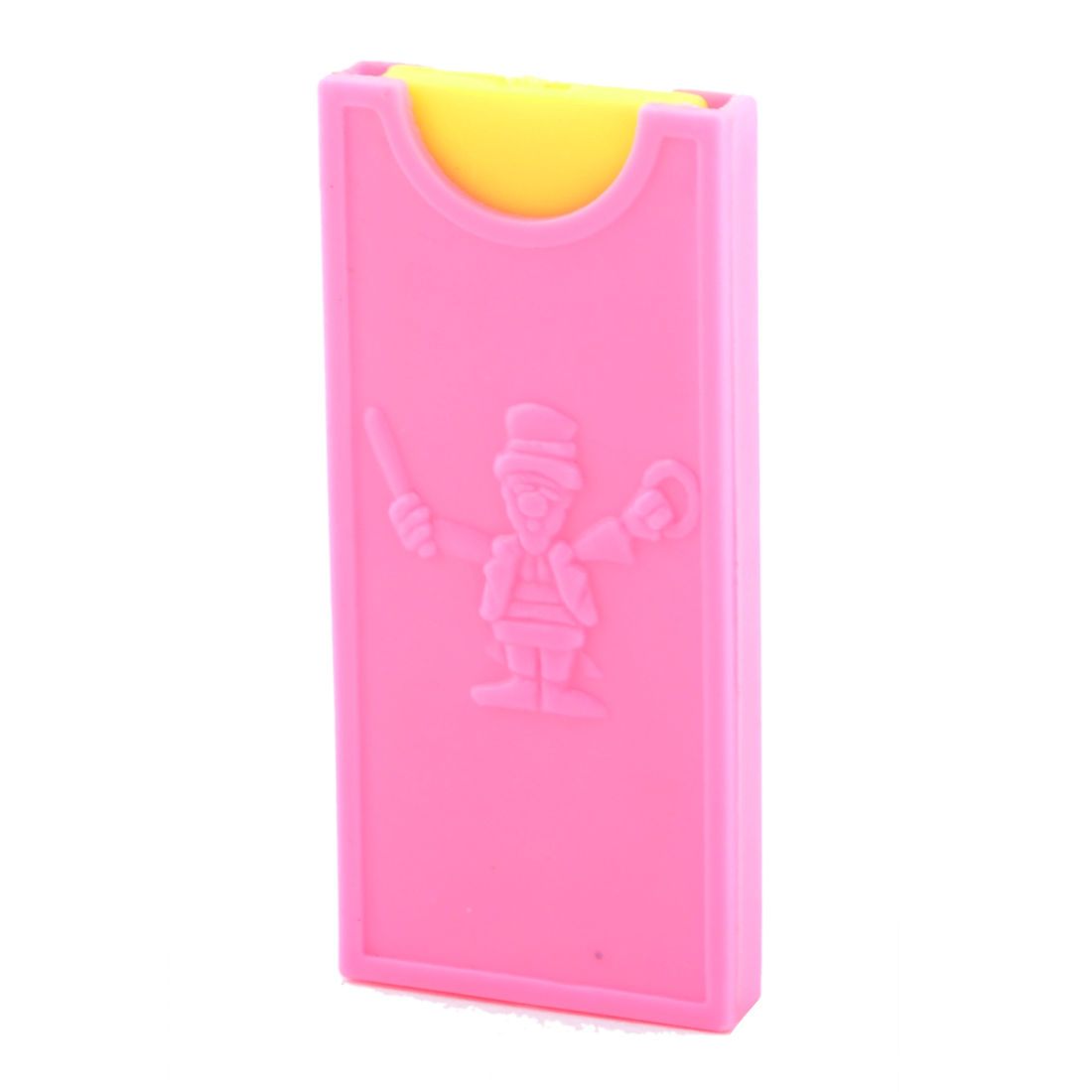 Party Plastic Rectangle Shape 2 Parts Coin Magic Trick Toy Yellow Pink