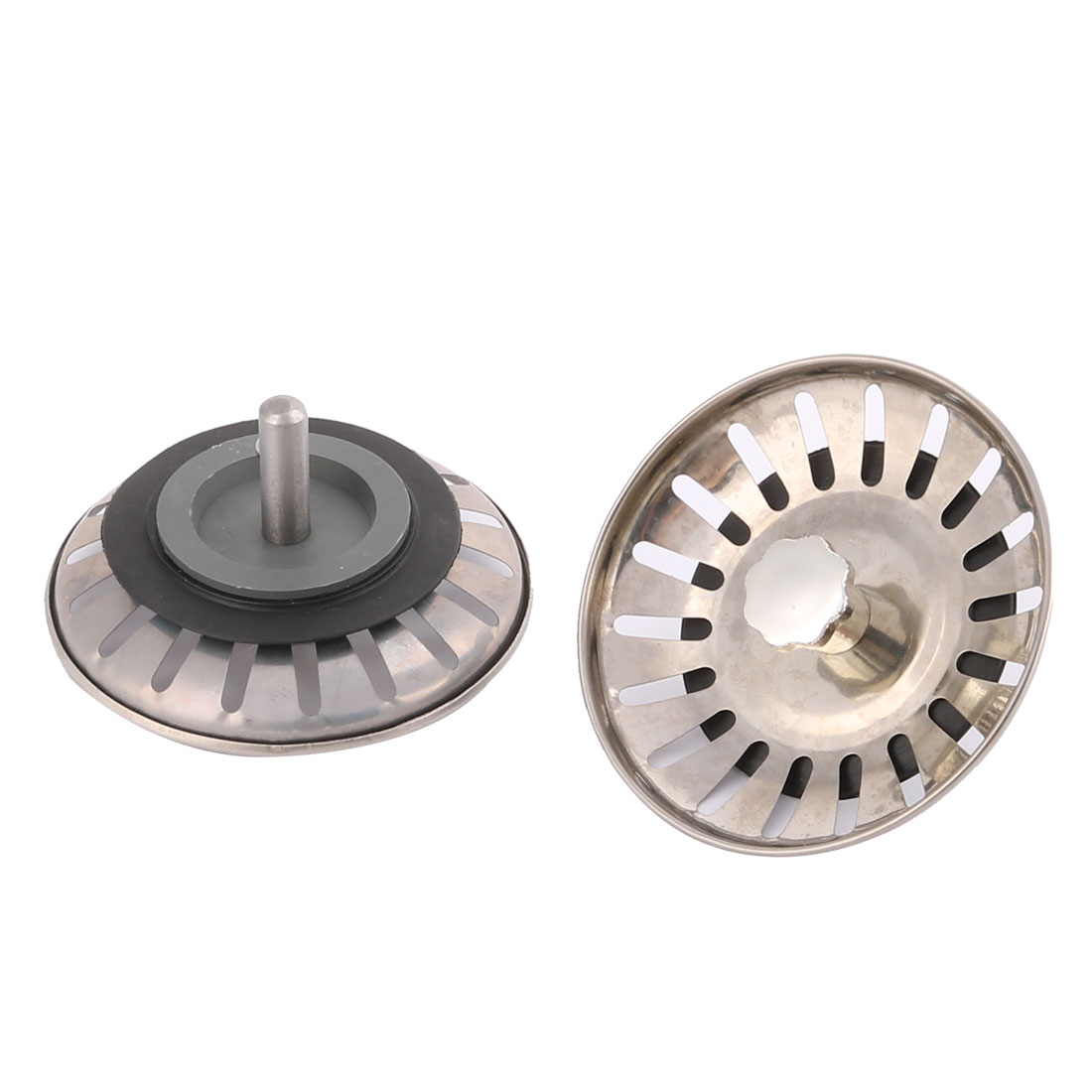 Metal Sink Strainers Kitchen Prevents Waste Stopper 2pcs