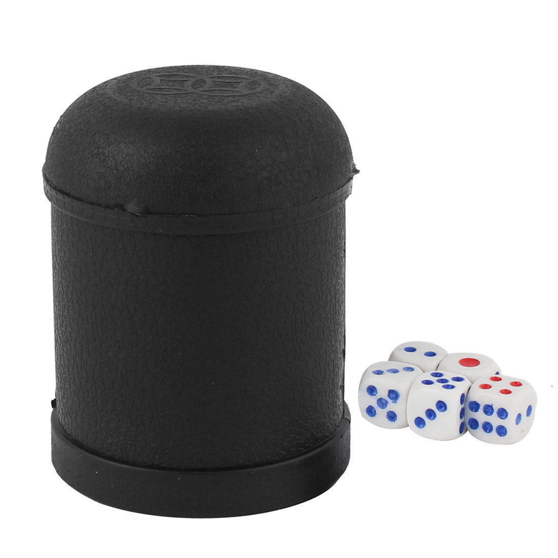KTV Party Bar Plastic Shaker Guessing Funny Casual Tool Dice Cup w 5 Dices Black
