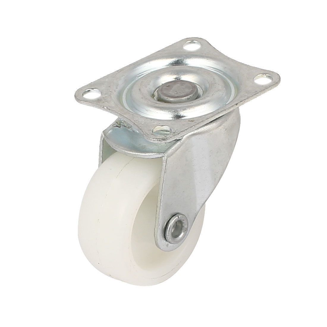 "1.2"" Dia 360 Degree Top Plate Nylon Swivel Caster Wheel White"