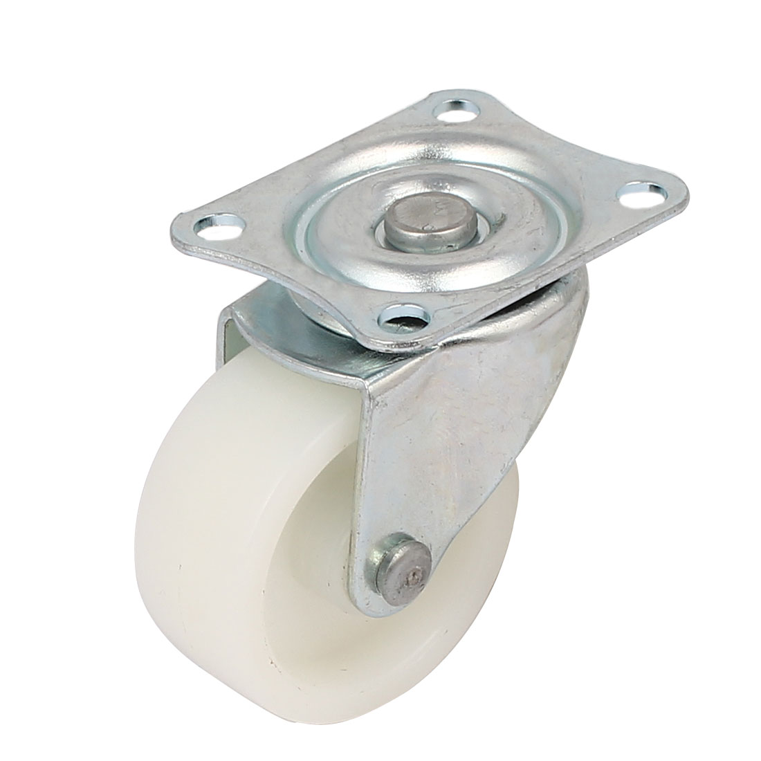 "1.6"" Dia 360 Degree Top Plate Nylon Swivel Caster Wheel White"