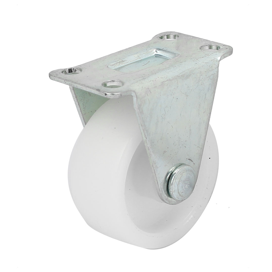"1.6"" Dia Fixed Type Flat Top Plate Non-Swivel Caster Wheel White"