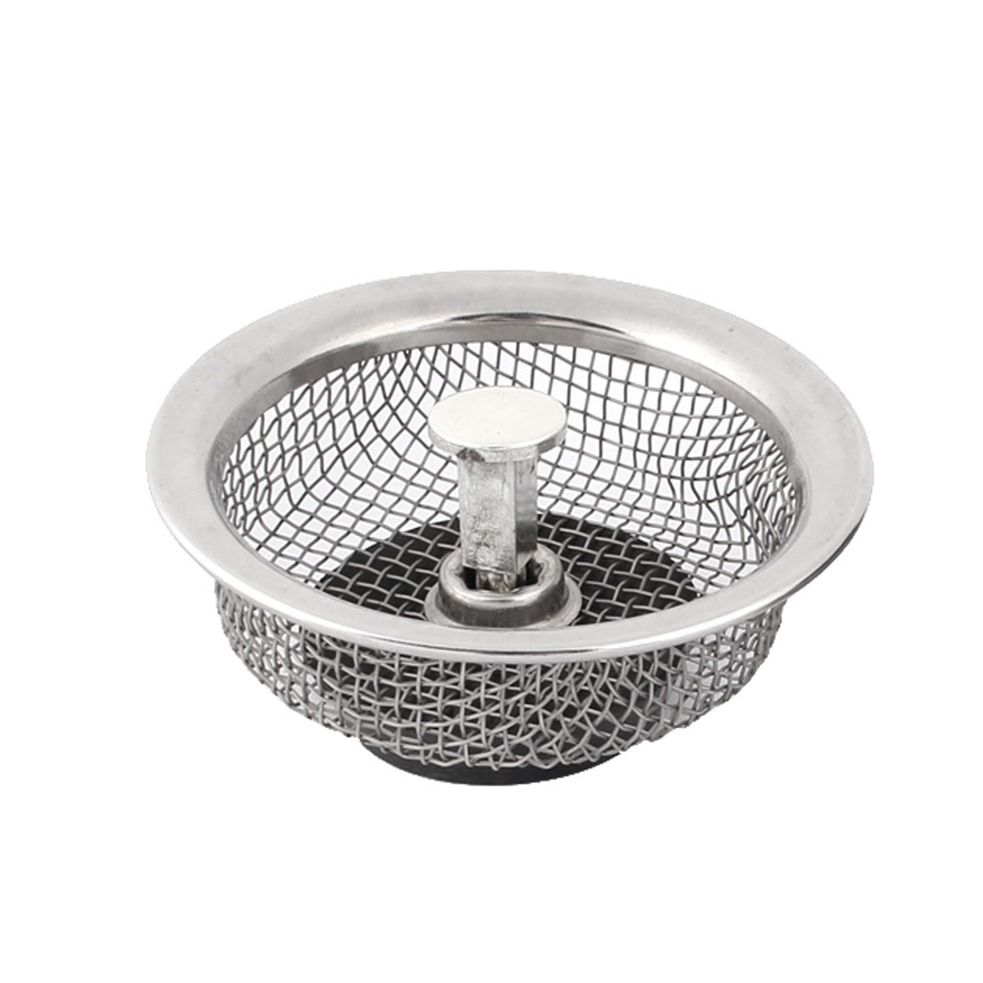 Household Kitchen Stainless Steel Round Shape Mesh Screen Sink Strainer 8.5cm Dia