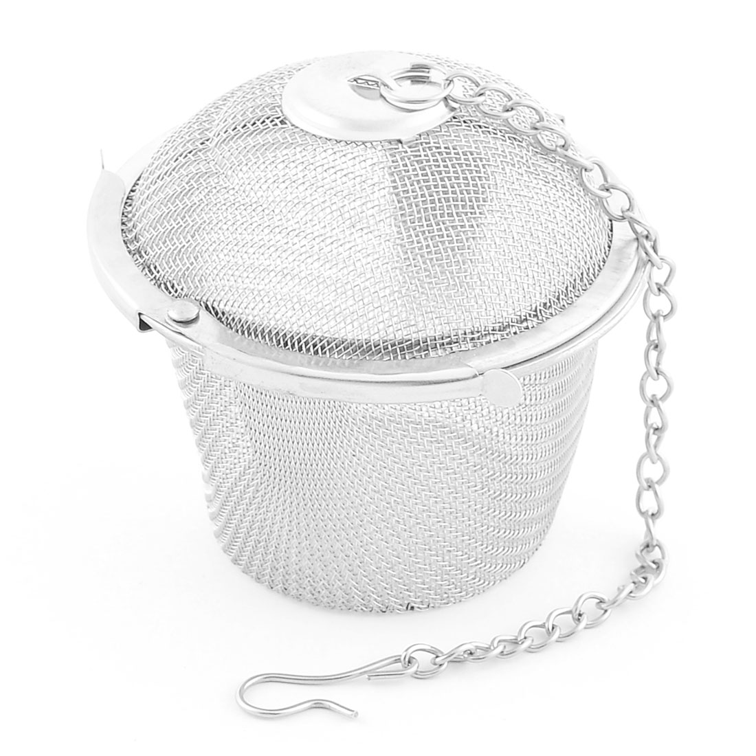 Stainless Steel Round Mesh Locked Infuser Filter Tea Stainer 54mm Diameter