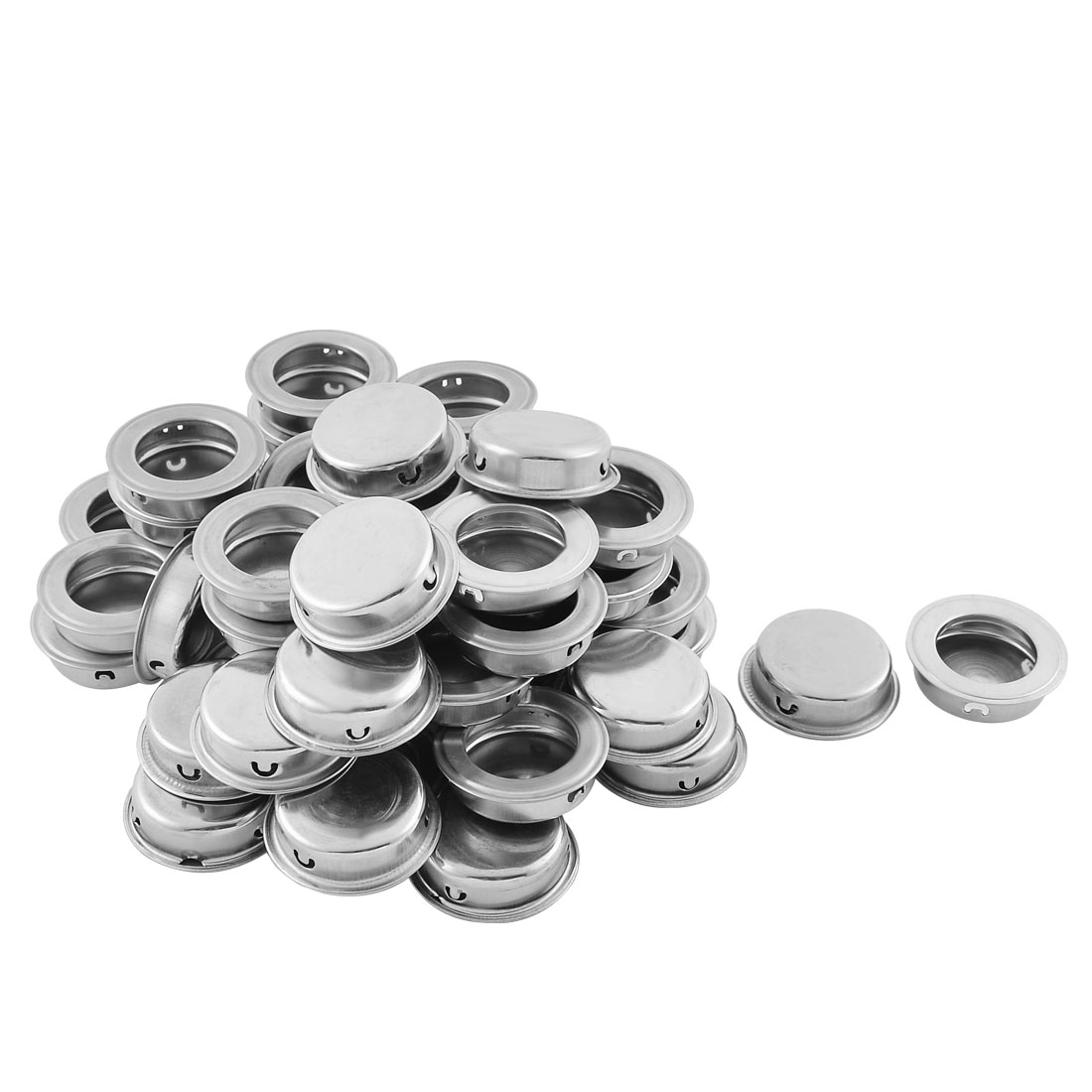 Cabinet Kitchen Furniture Stainless Steel Round Flat Recessed Flush Pull Handles 50PCS