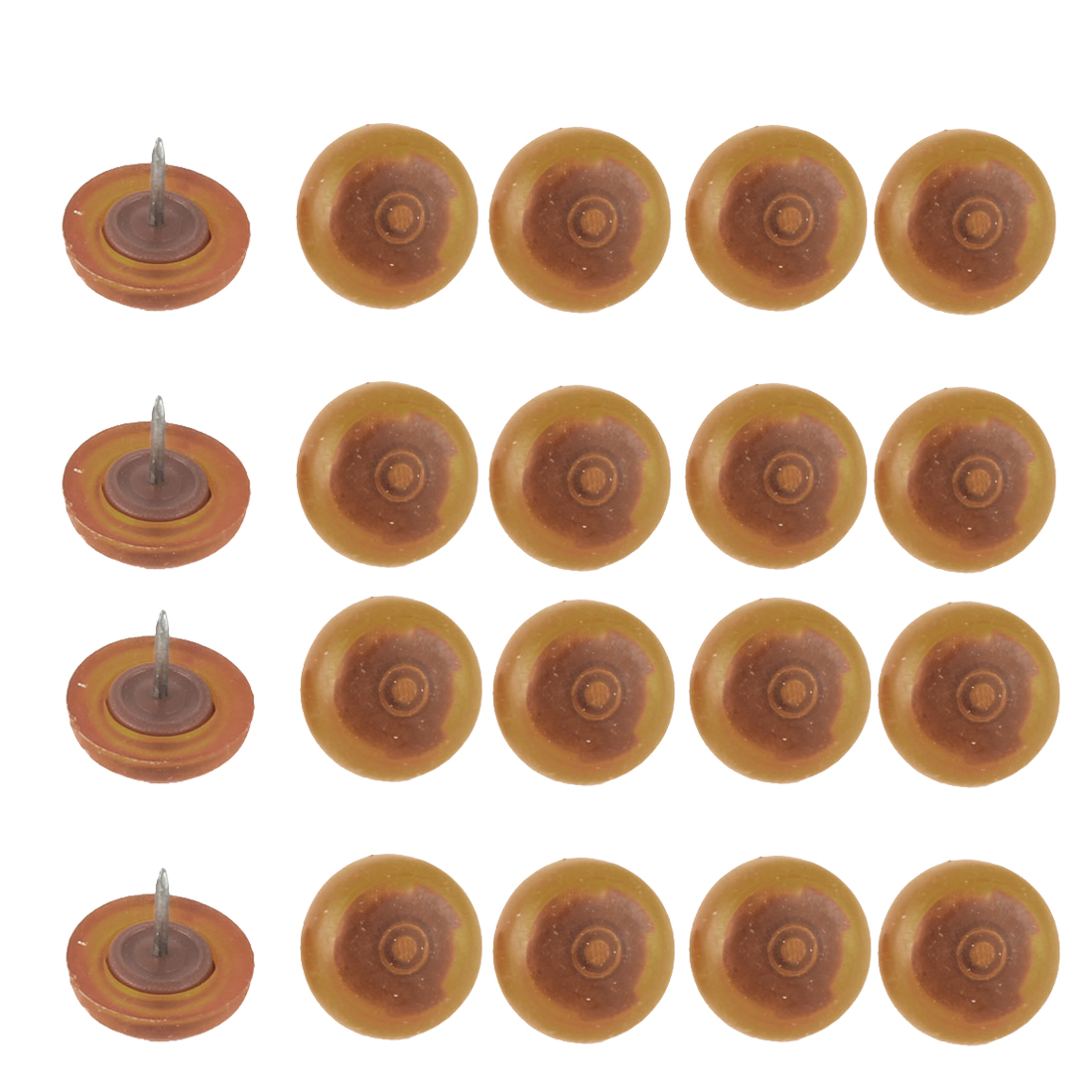 Home Office Plastic Round Shaped Pad Furniture Table Leg Floor Protectors 20 Pcs