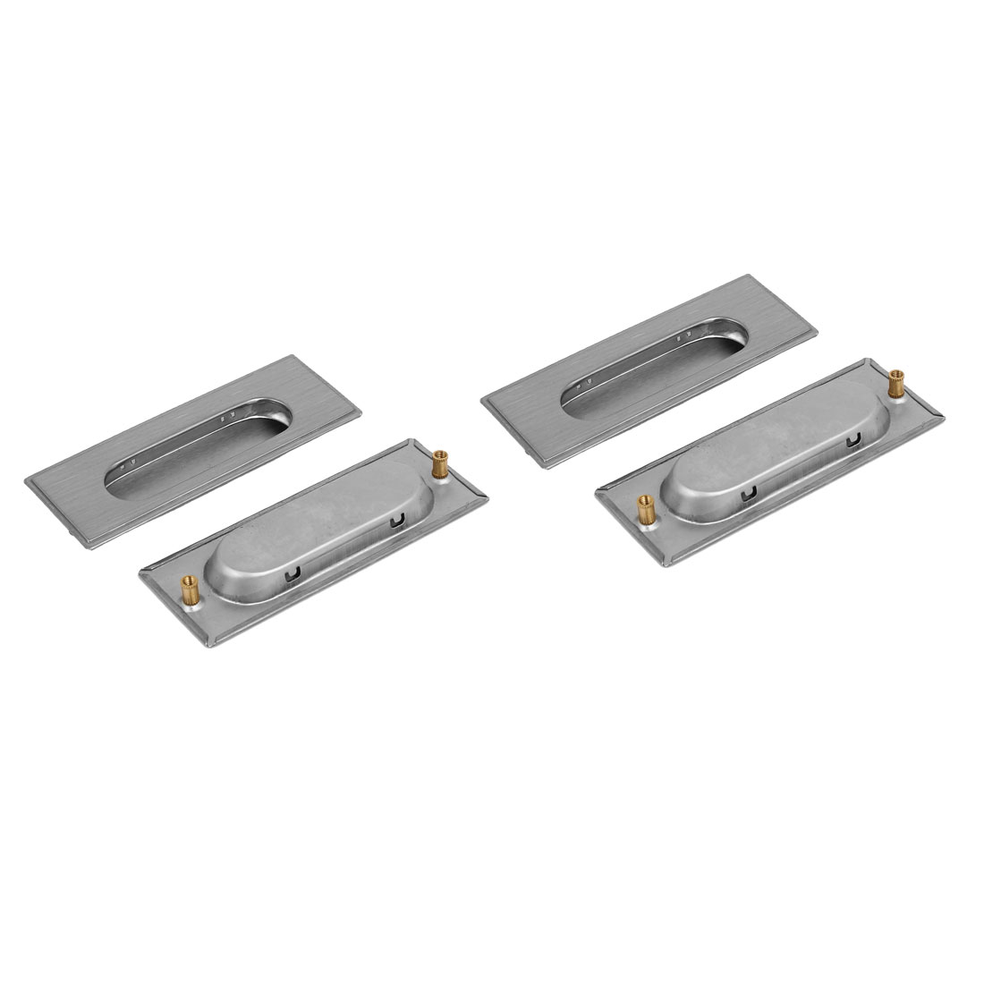 """4.3"""" Length Rectangular Recessed Flush Pull Handle 4PCS for Drawer Cupboard"""