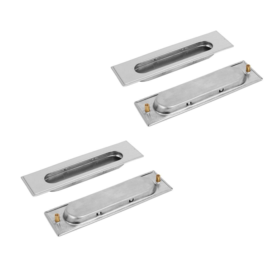 "5.5"" Length Rectangular Recessed Flush Pull Handle 4PCS for Cabinet Drawer Door"