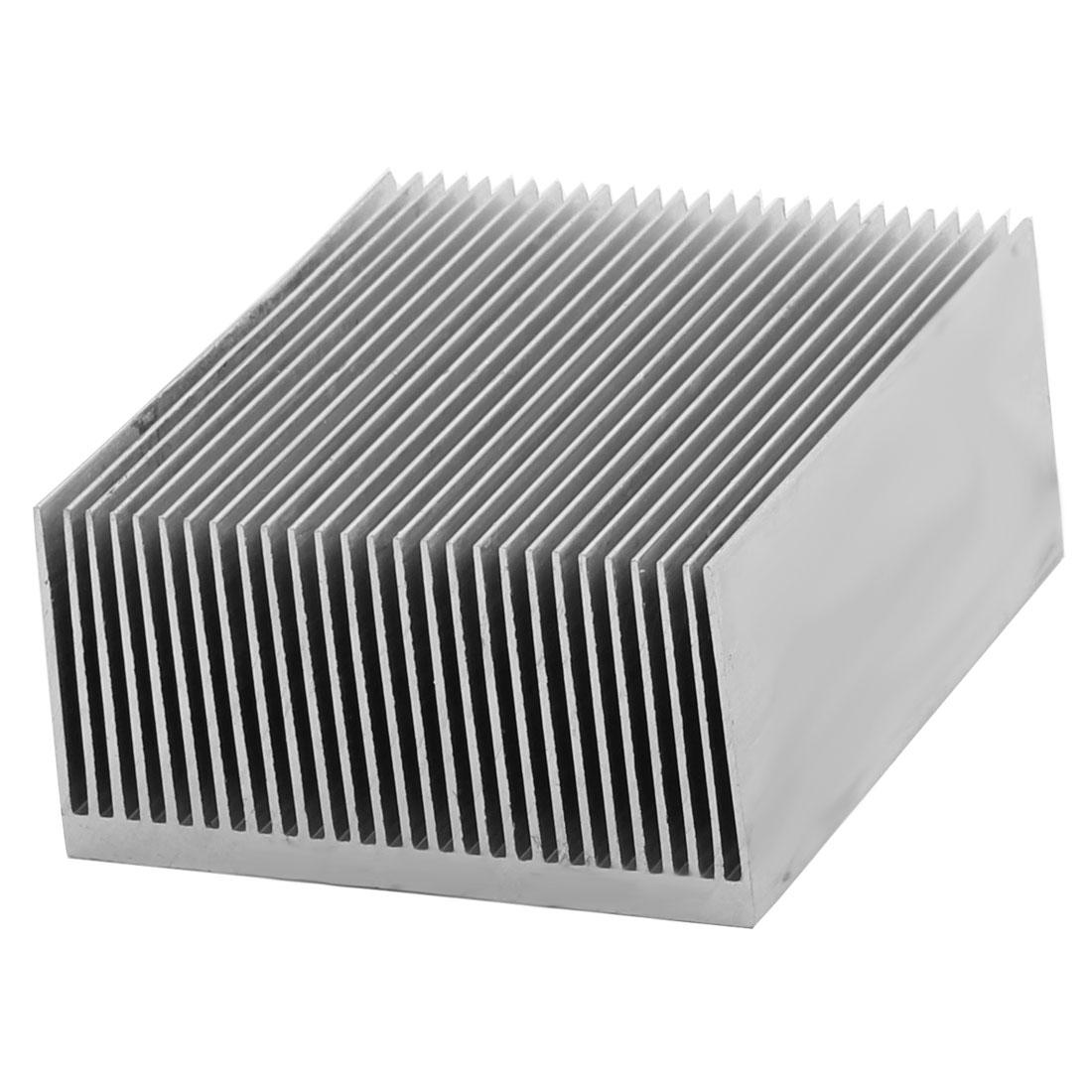 Aluminium Heatsink Heat Diffuse Dissipate Cooling Fin Silver Tone 80 x 69 x 36mm