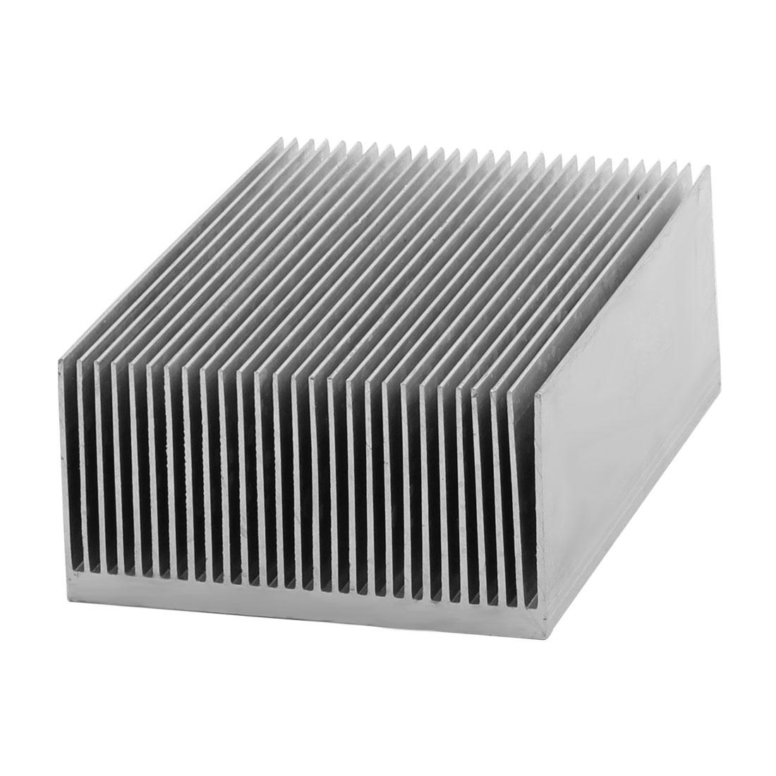 Aluminium Heatsink Heat Diffuse Dissipate Cooling Fin Silver Tone 100 x 69 x 36mm