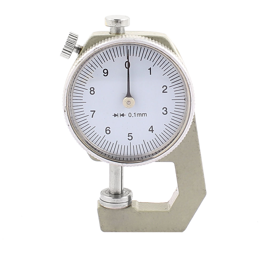 0 to 10mm Measuring Range 0.01mm Resolution Round Dial Thickness Gauge C-01