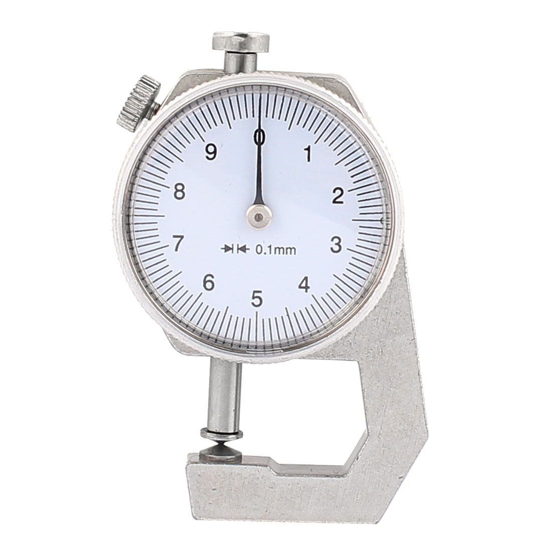 0 to 10mm Measuring Range 0.01mm Grad Round Dial Thickness Gauge C-02