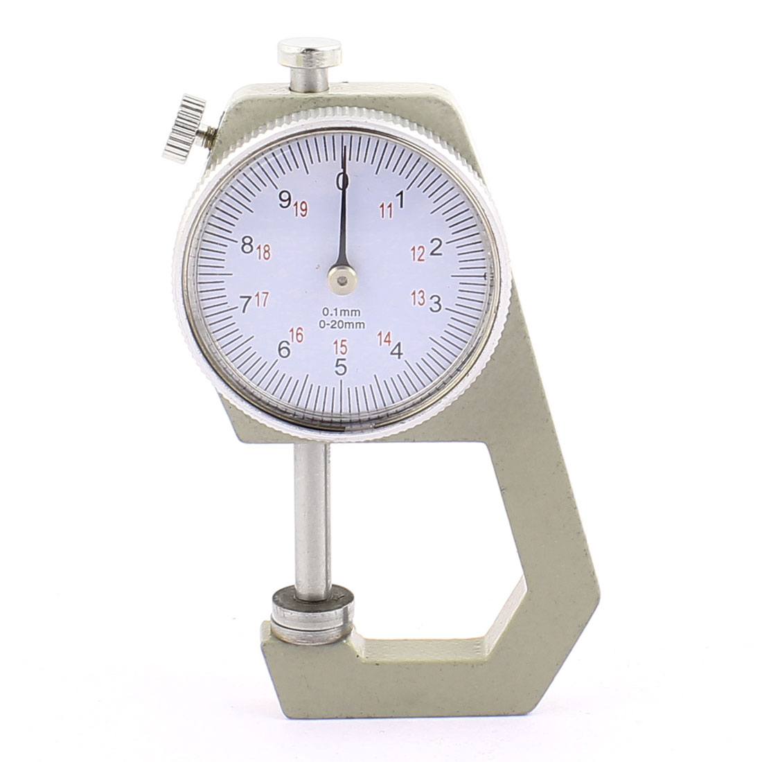 0 to 20mm Measuring Range 0.01mm Grad Round Dial Thickness Gauge C-04