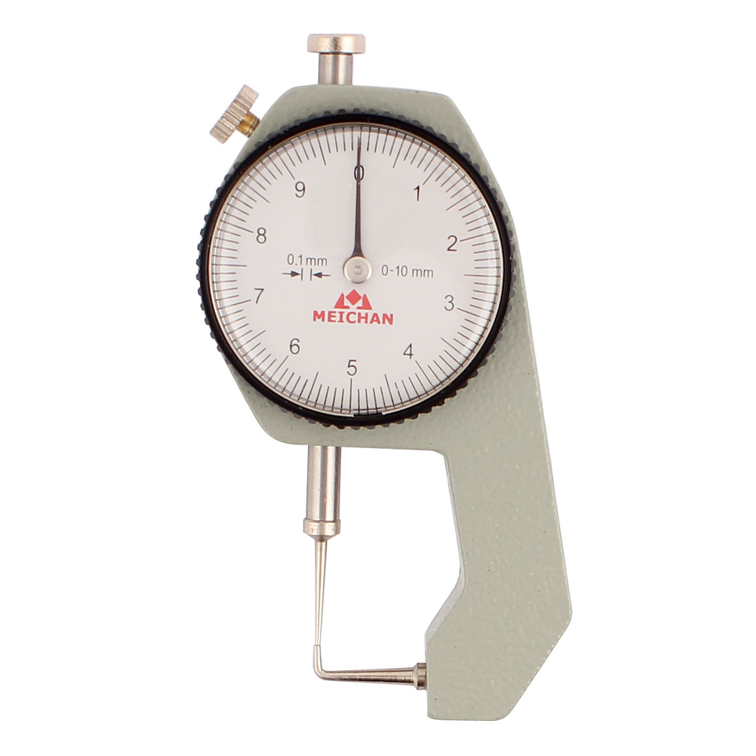 0 to 10mm Measuring Range 0.1mm Grad Round Dial Thickness Gauge C-07
