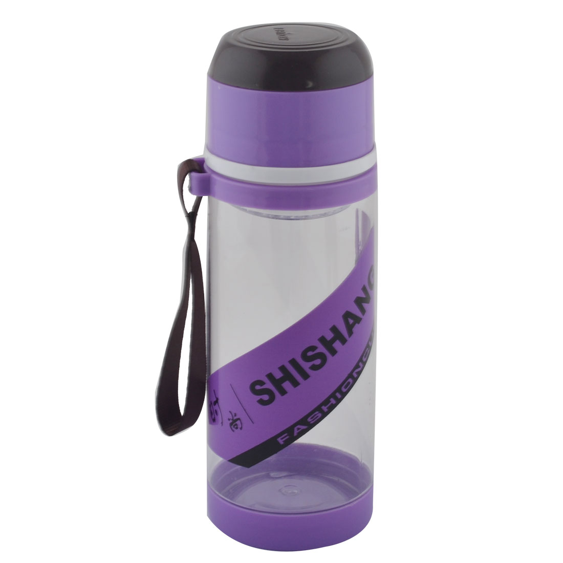 Camping Plastic Detachable Tea Strainer Sport Water Bottle Cup Mug Purple 630ML