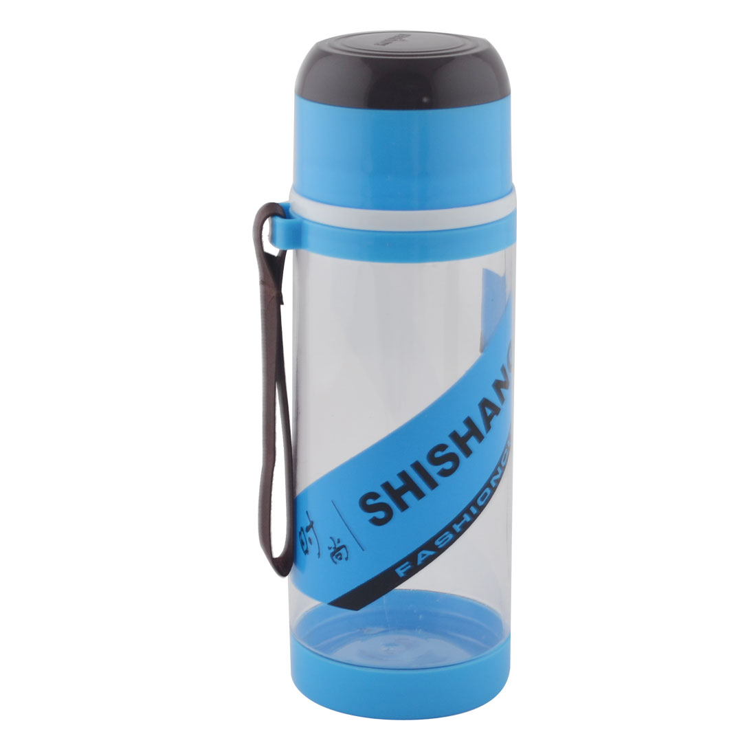 Camping Plastic Detachable Tea Strainer Sport Water Bottle Cup Mug Blue 630ML