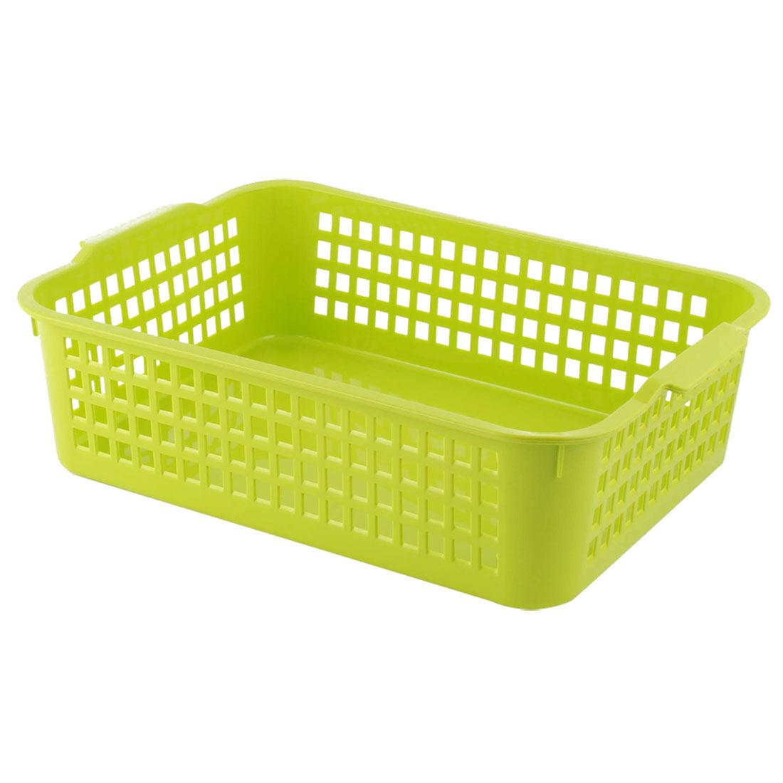 Office Plastic Books Document File Classification Storage Organizer Basket Green