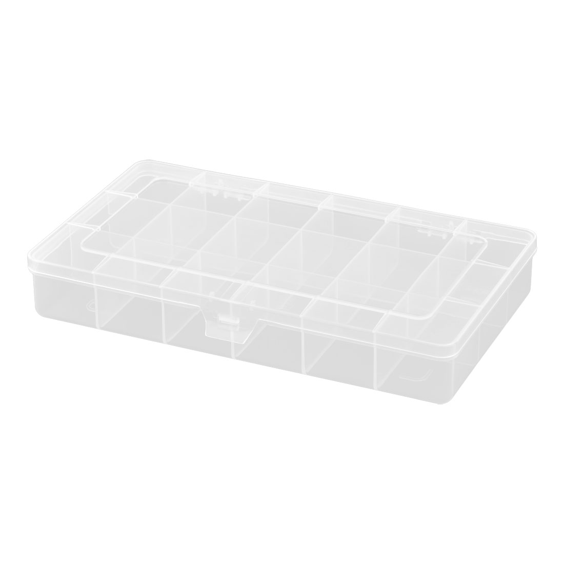 Household Plastic Sweing Accessories Craft Parts 18 Compartments Storage Box