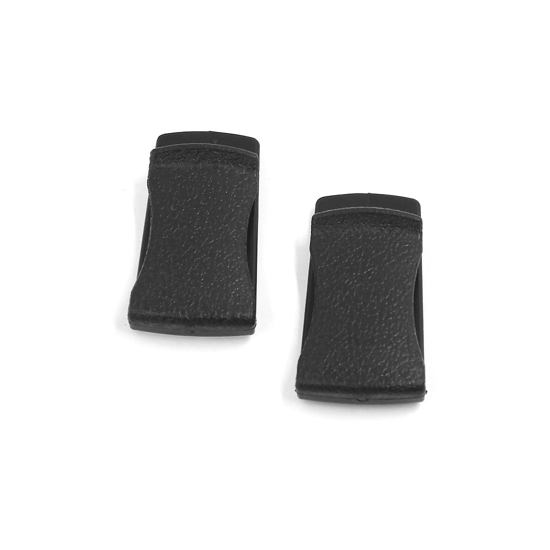 Car Interior Side Door Mount Card Bill Paper Storage Organiser Holder Clip Black 2pcs