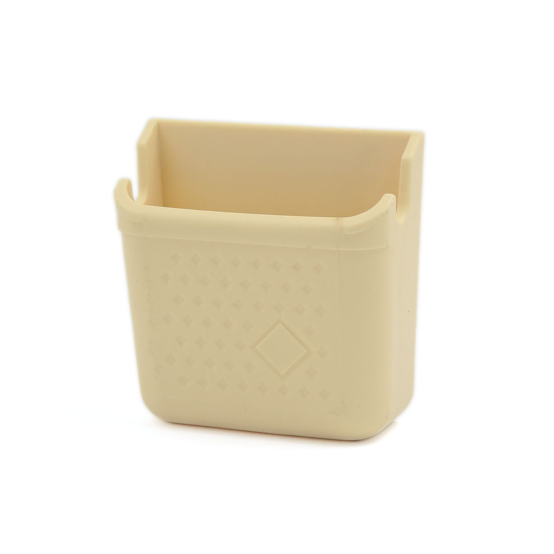 Self-adhesive Car Side Door Mount Storage Box Holder Beige for Smart Cell Phone Charger