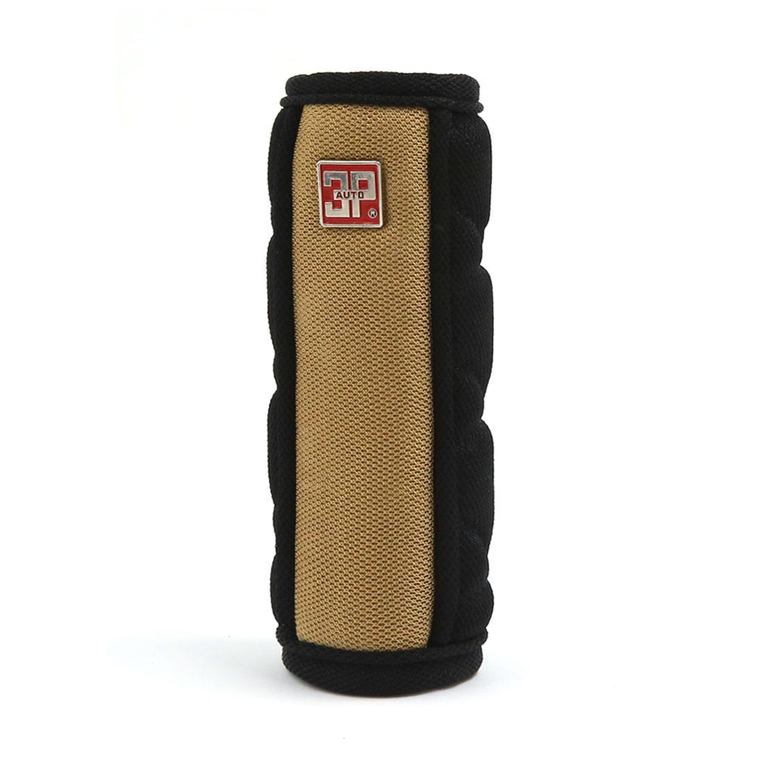 Universal Car Truck Nylon Sponge Padded Handbrake Lever Cover Sleeve Brown Black