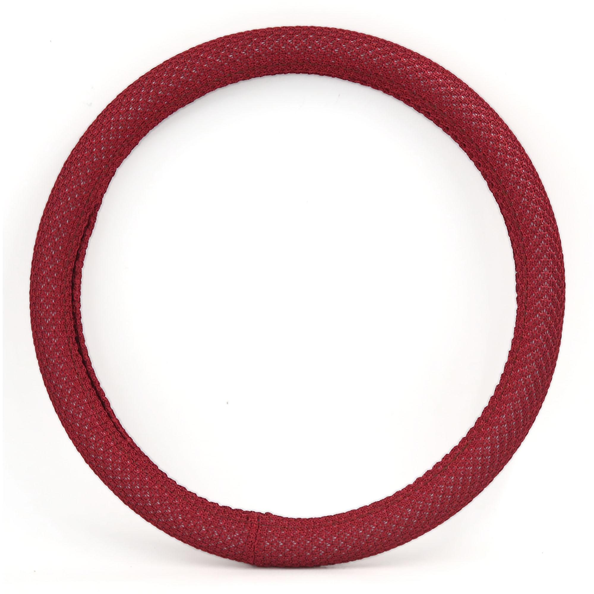 35cm Outer 30cm Inner Dia Odorless Antislip Comfortable Steering Wheel Cover Red for Car