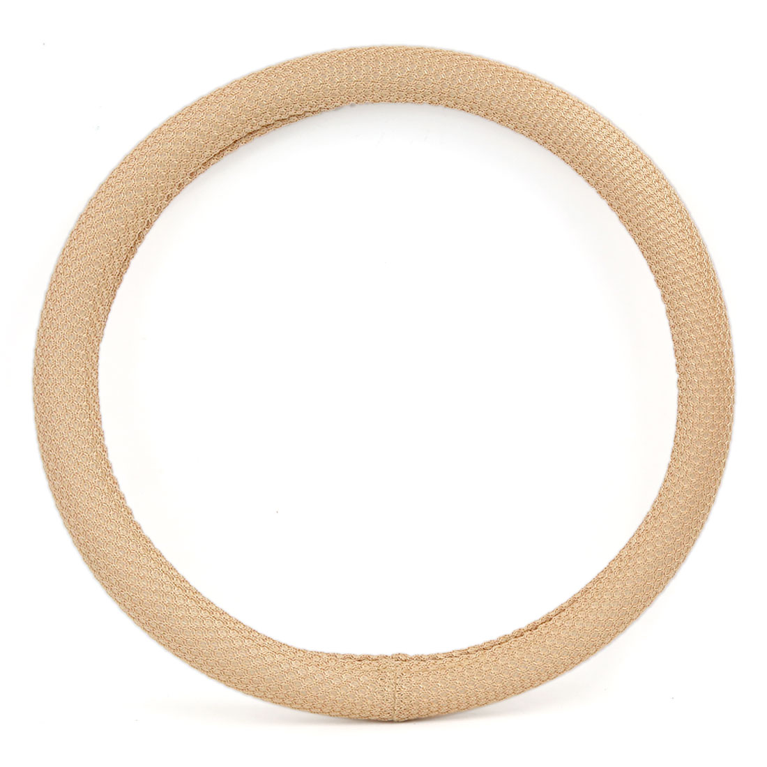 "Universal Truck SUV Car Vehicle Beige Comfort Odorless Breathable Steering Wheel Cover Protector 15"" Outer Dia"
