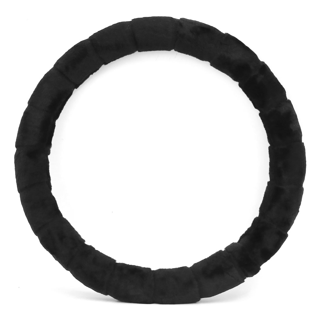 Black Winter Warm Comfort Grips Soft Plush Steering Wheel Cover Car Accessory