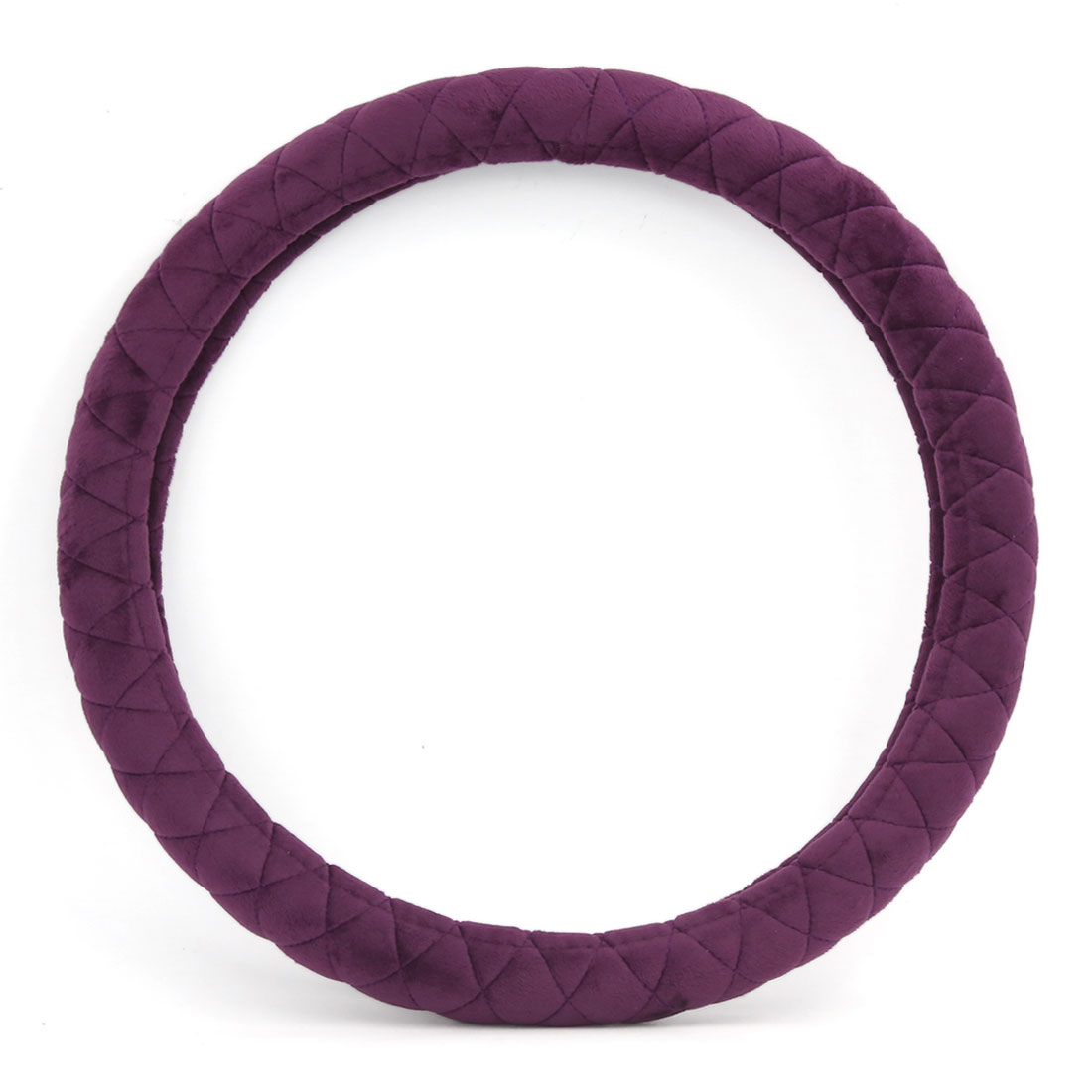 "Purple Winter Warm Fuzzy Soft Plush Steering Wheel Cover 15"" Dia for Car Auto"