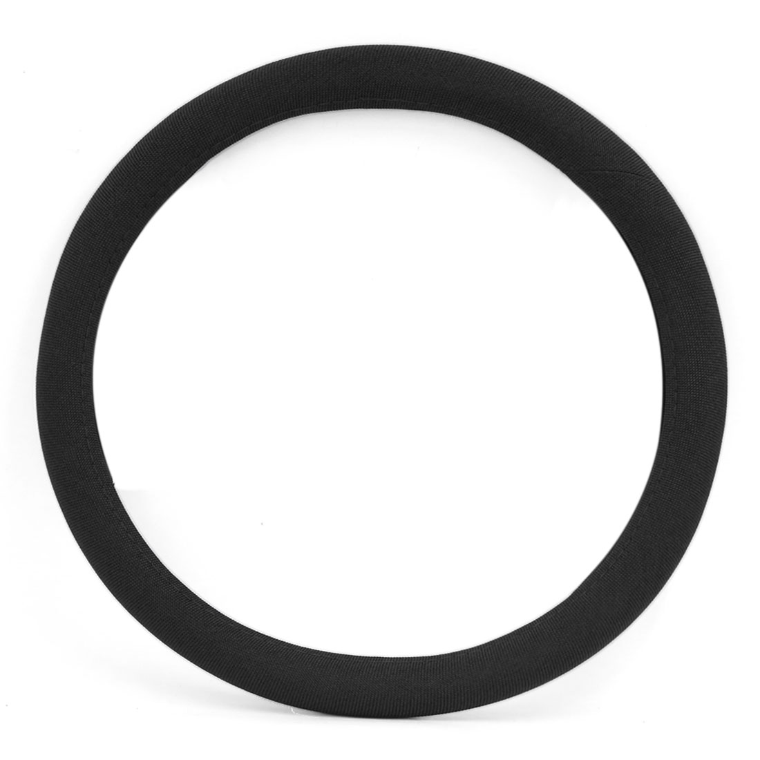 Universal Linen Standard Size Breathable Car Steering Wheel Cover 38cm Dia Black