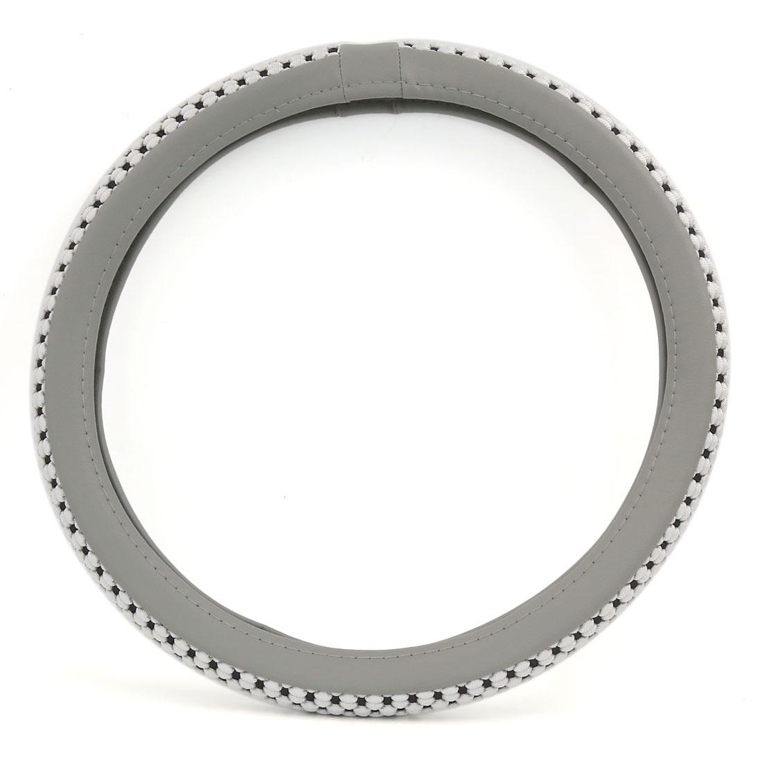 38cm Outer 30cm Inner Dia Comfort Durability Antislip Steering Wheel Cover Gray