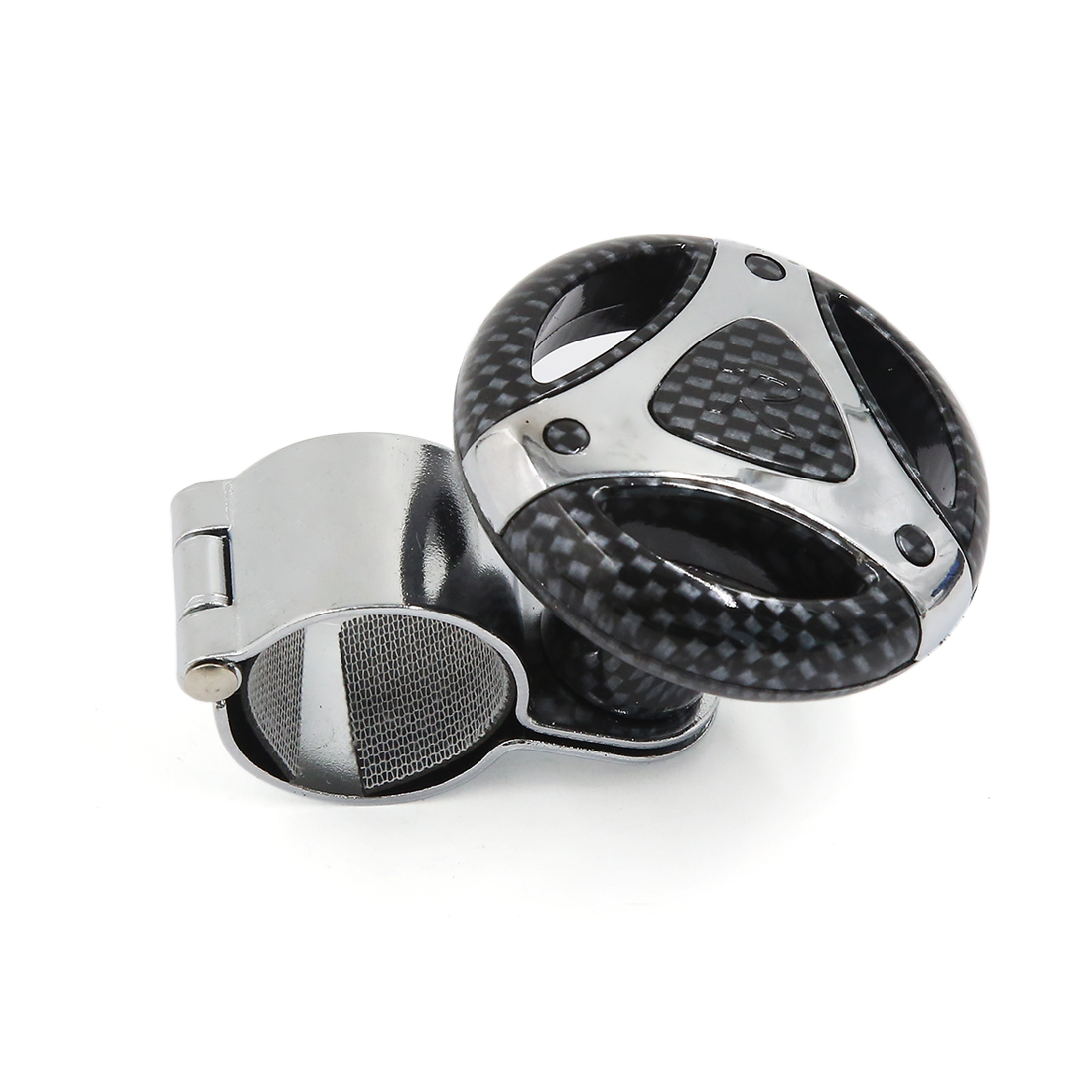 Hollow Style Carbon Fiber Printed Car Power Aid Ball Steering Wheel Knob Booster