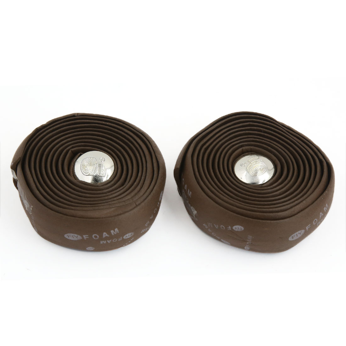 2 Pcs Brown Foam Road Bike Fixed Gear Handlebar Tape Bar Padded Wrap