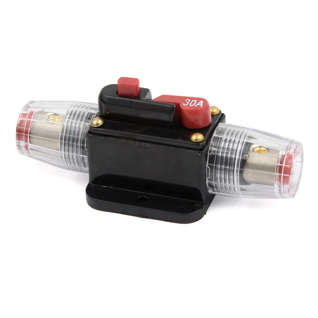 30A Amplifier Fuse Holder Clear Casing for Car Truck