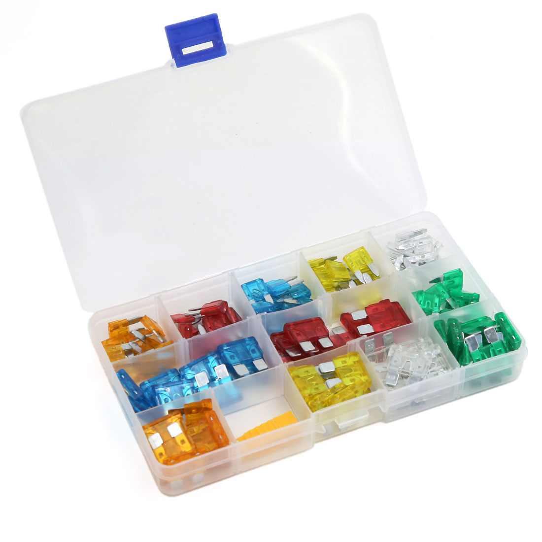 120pcs Mini Regular Auto Car Blade Fuse Assortment Kit