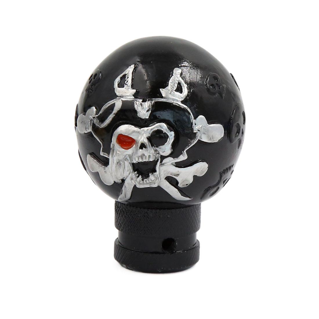 Black Skull Head Design Gear Shift Lever Knob for Auto Car Vehicle