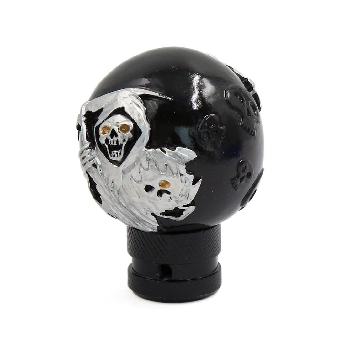 Black Skull Head Design Gear Shift Lever Knob for Auto Car