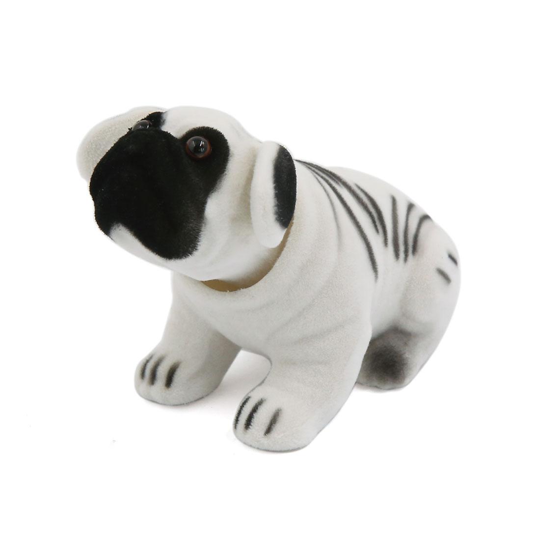 Car Cute Doll Decoration Shaking Head Nodding Dog Auto Ornament White Black