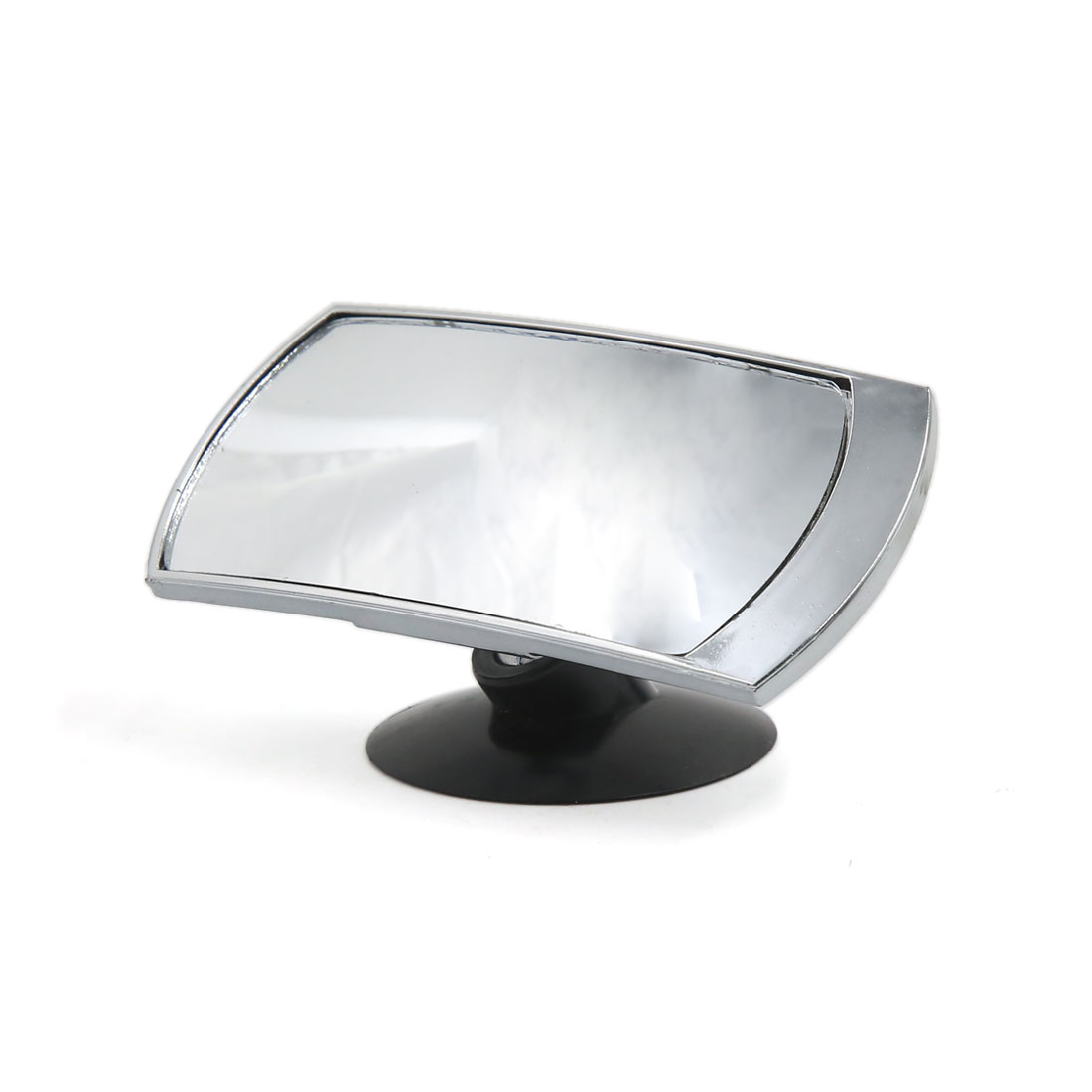 Vehicle Car Blind Spot Free Angle Convex Interior Rear View Mirror Sliver Tone