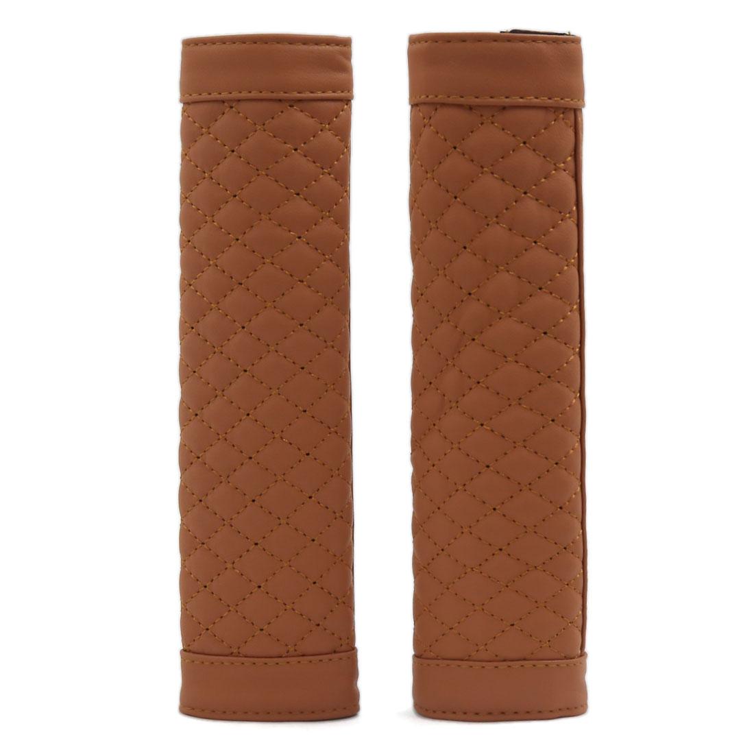Universal Car Seat Belt Shoulder Pads Cover Cushion Comfortable Pad Brown 2pcs